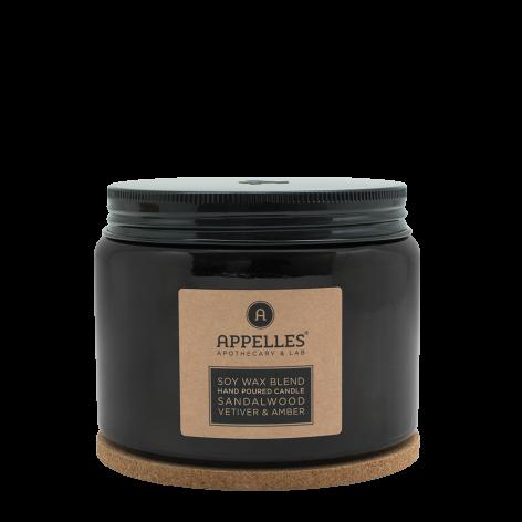 Appelles Sandalwood, Vetiver & Amber Candle