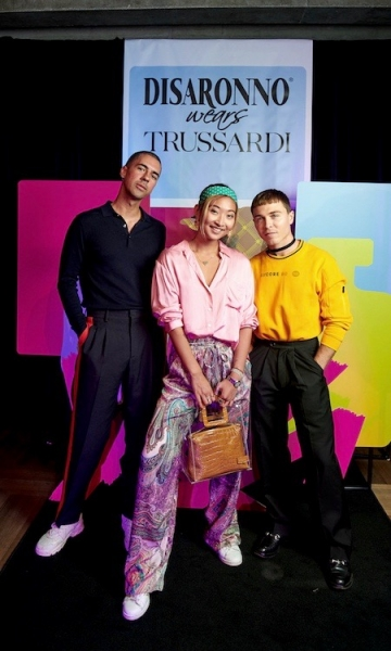 Disaronno wears Trussardi