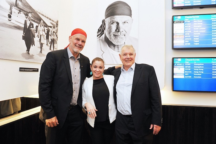 Peter Fitzsimons AM, Caterina Tarchi of Machiavelli and Peter Butts, Chairman of Airport Retail Enterprises.