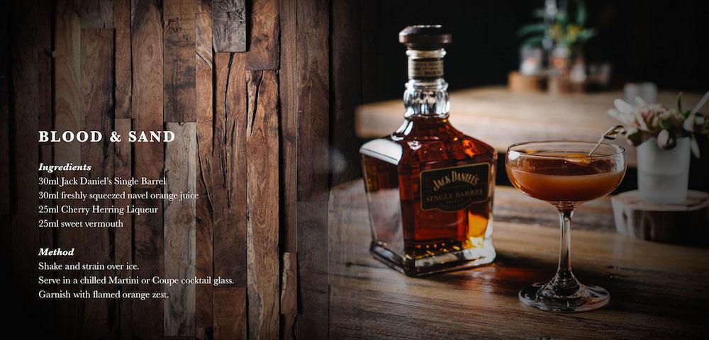 Jack Daniels, Blood & Sand Cocktail Recipe