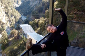 Shotover Canyon Swing for breast cancer
