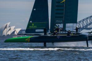 Tom Slingsby's Australia SailGP Team  hits the water