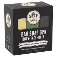 Jack The Barber | Hair Face and Body Bar Triple-Pack Soap